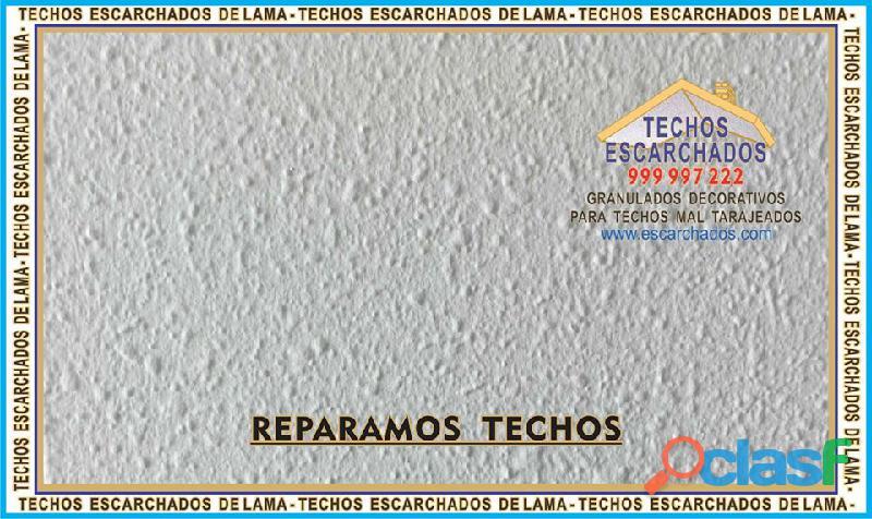Escarchados decorativos tipo lama: muy bueno para restaurar y decorar techos   tlf:. 999 997 222