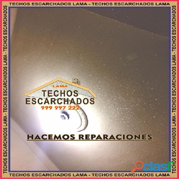 ESCARCHADOS DECORATIVOS TIPO LAMA: Muy bueno para RESTAURAR y decorar techos   TLF:. 999 997 222   2