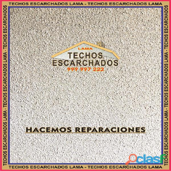 ESCARCHADOS DECORATIVOS TIPO LAMA: Muy bueno para RESTAURAR y decorar techos   TLF:. 999 997 222   4