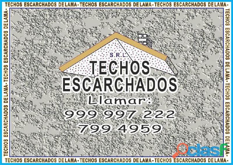 ESCARCHADOS DECORATIVOS TIPO LAMA: Muy bueno para RESTAURAR y decorar techos   TLF:. 999 997 222   1