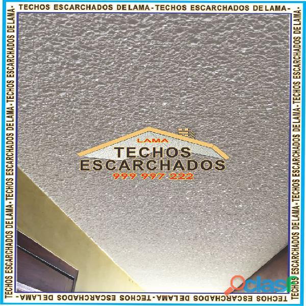 ESCARCHADOS DECORATIVOS TIPO LAMA: Muy bueno para RESTAURAR y decorar techos   TLF:. 999 997 222   7