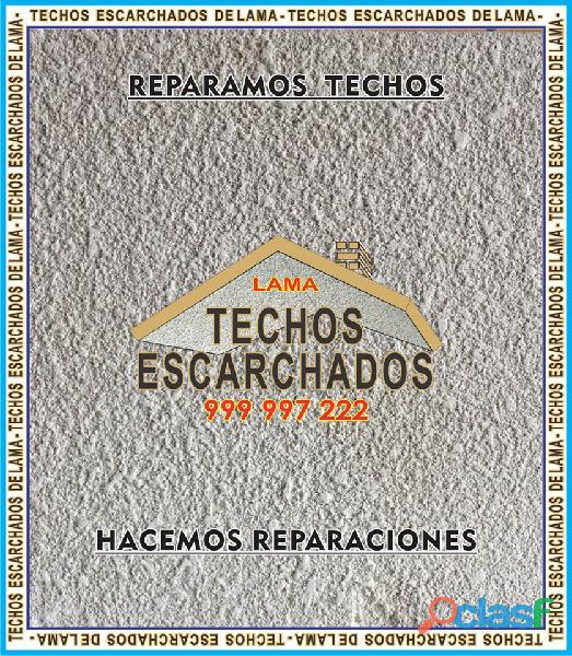 ESCARCHADOS DECORATIVOS TIPO LAMA: Muy bueno para RESTAURAR y decorar techos   TLF:. 999 997 222   8