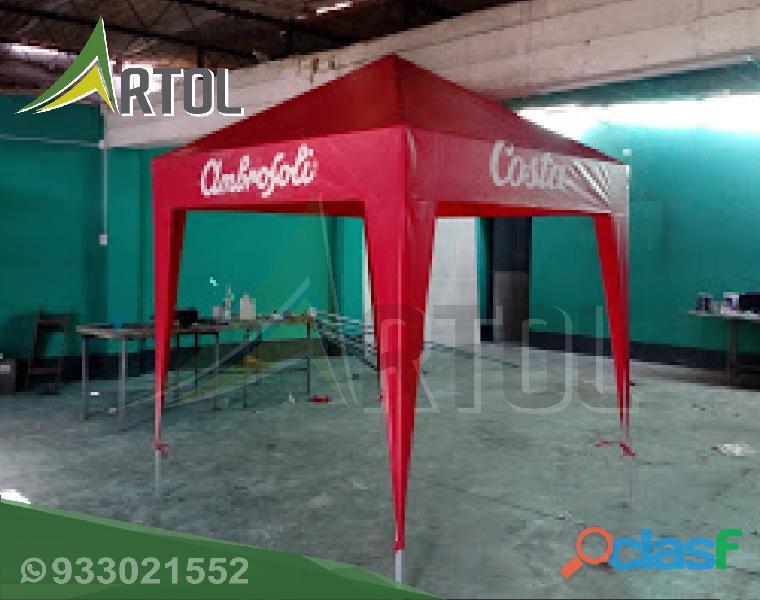 Toldo Color Rojo Modelo Piramidal   Artol Perú