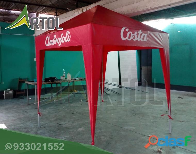 Toldo Color Rojo Modelo Piramidal   Artol Perú 1