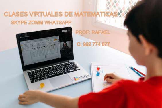 Clases virtuales de matematicas y ciencias en lima