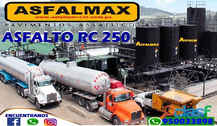 asfalto rc 250 venta por cilindro de 55 galones o balde de 5 galones puesto en obra