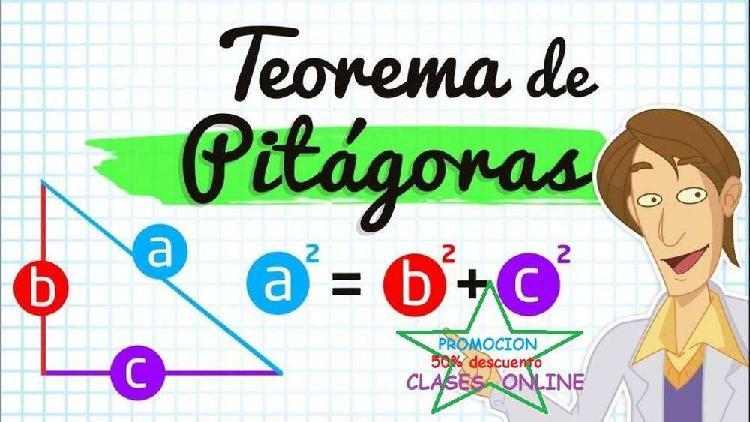 Clases particulares online de matematica, fisica, quimica y