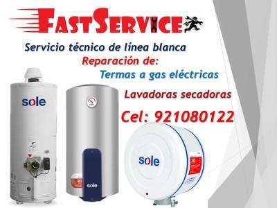 Servicio técnico calentadores sole a gas eléctricas