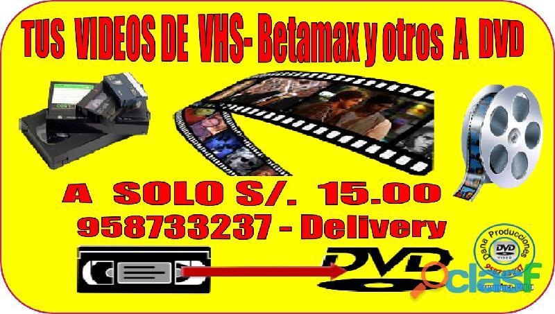Conversion VHS BETAMAX y OTROS A DVD