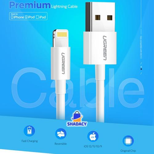 Cable usb lightning ugreen original apple iphone 1mt mfi
