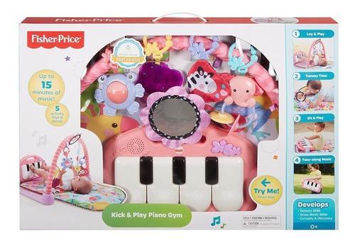 Fisher price - gimnasio piano pataditas musicales rosado !!!