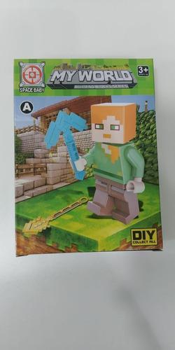 Minecraf figuras con accesorios armables