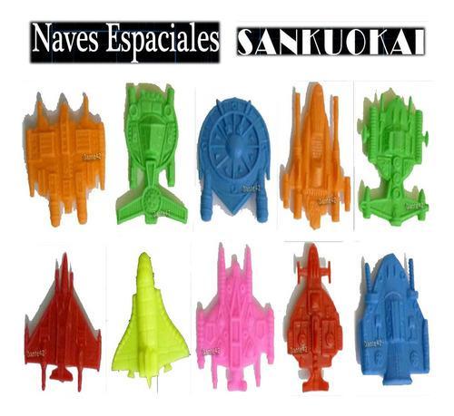 Sankuokay juguete antiguo pack 10 naves miniaturas 1980
