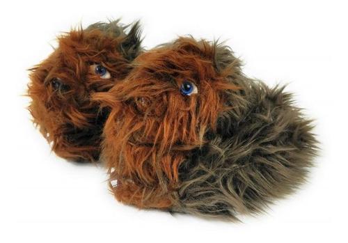 Star wars - pantuflas para niños de chewbacca talla 5/6