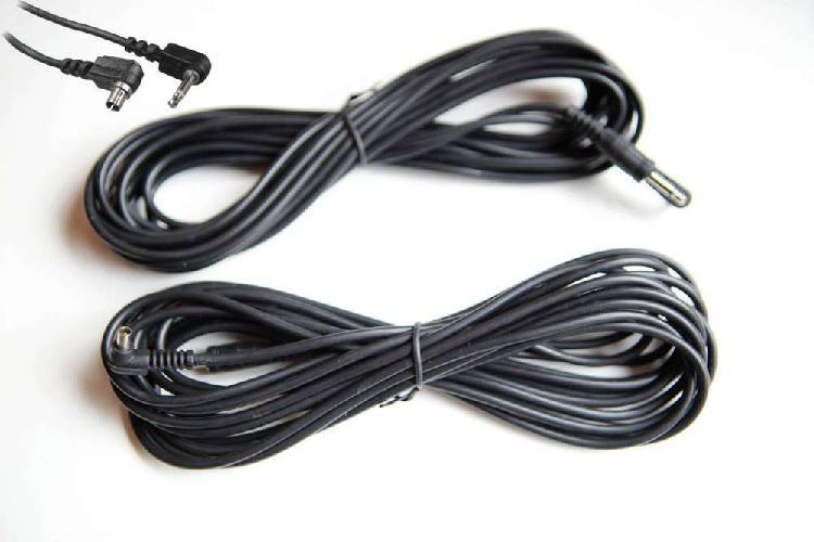 Cable sincro para flash de estudio y zapata