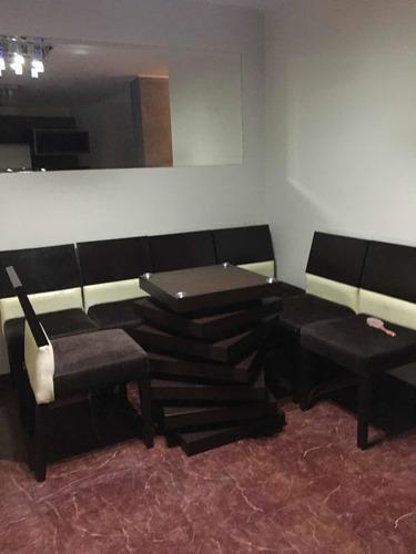 Centro mesa base madera comedor sillas sala usado oferta