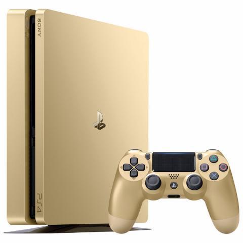 Consola playstation 4 slim de 1tb de oro en bagua grande