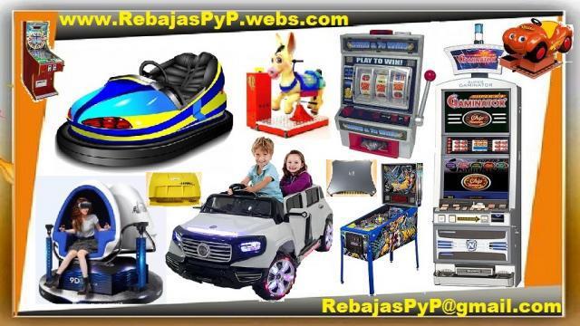 Fabrica maquinas de juegos, tragamonedas, casino, arcade, pi