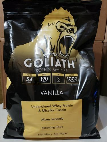 Goliath protein gainer 12 libras (syntrax)