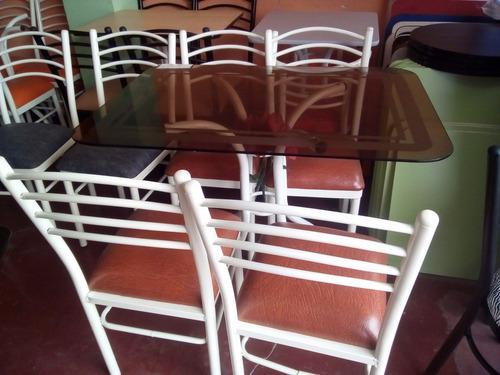Juego comedor 4 sillas mesa vidrio (nuevo)