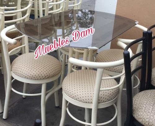 Juego comedor 4 sillas más mesa vidrio (nuevo)