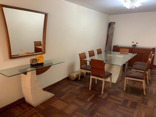 Juego de comedor 8 sillas + consola + espejo
