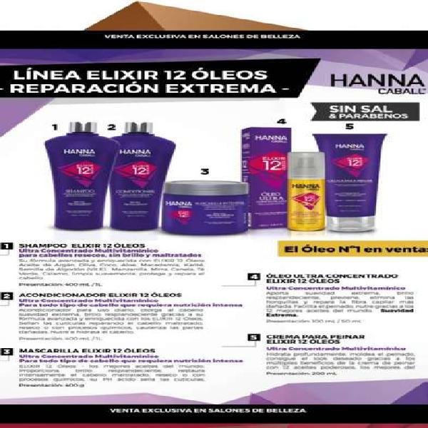 12 oleos productos de uso profesional hanna caball.