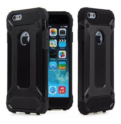 Case duro armor para iphone 7 8 doble capa contra golpes