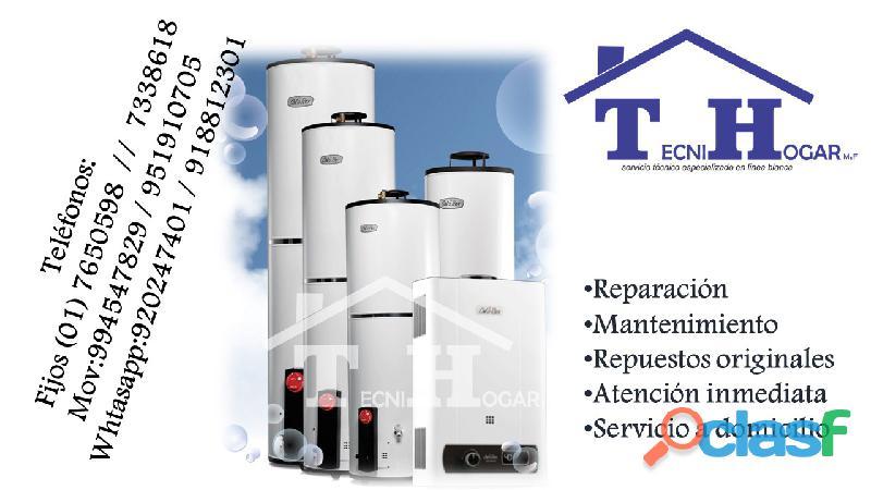 Reparación servicio técnico termas a eléctrica y gas sole 994547829