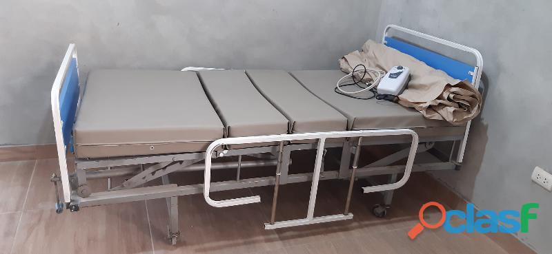 Vendo cama clínica hospitalaria con colchón especial + atiesaras de regalo