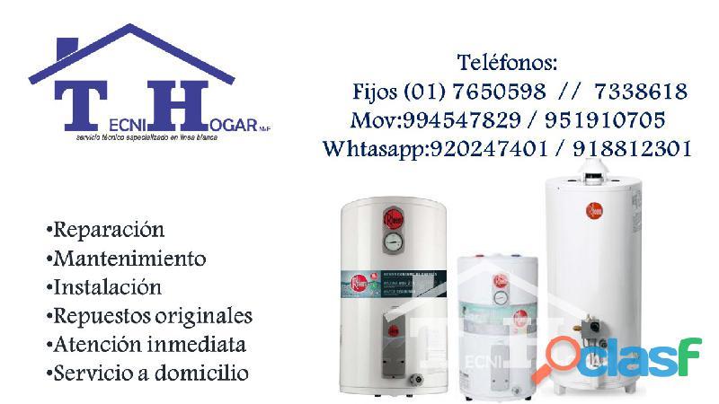 Termas rheem servicio técnicos de reparaciones y mantenimiento 7650598