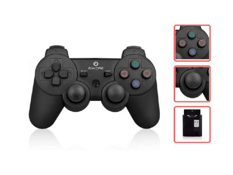 Mando inalámbrico ps2 / ps3 / pc recargable no usa pilas