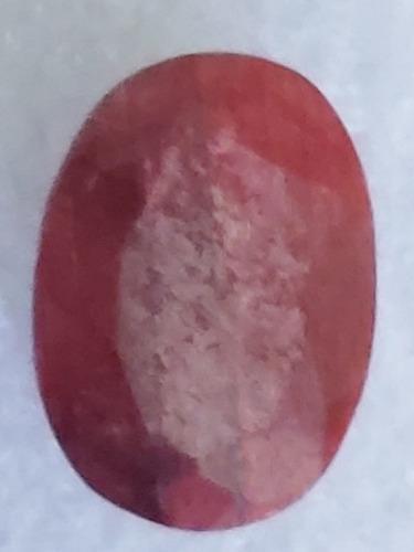 Piedra rubí rojo opaco africano sangre natural 7.0 ct. n33b