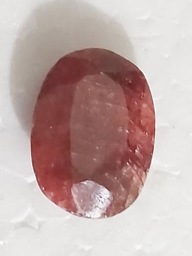 Piedra rubí rojo opaco africano sangre natural 9ct. n36b