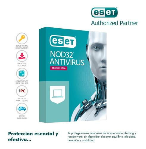 Eset nod32 antivirus original 1 pc 1 año versión 2020