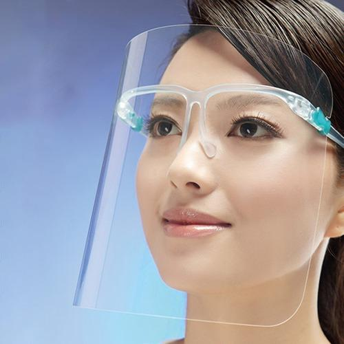Protector facial face shield/ antiempañe tipo lente