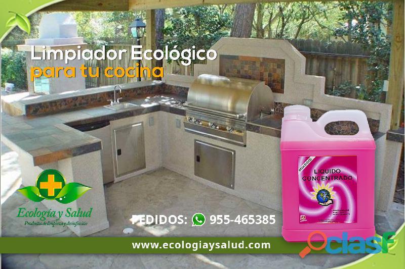 Limpiador y desinfectante ecologico de cocina
