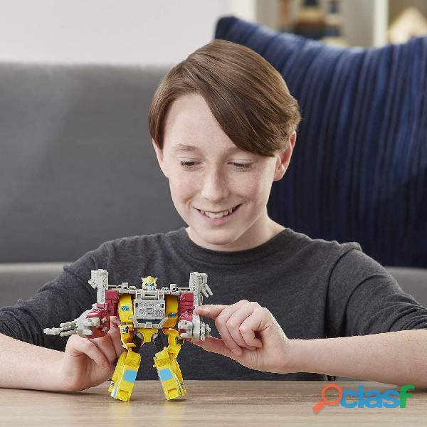 ransformers Toys Cyberverse Spark Armor Bumblebee Figura de acción – Combina con Ocean Storm Spark A 2