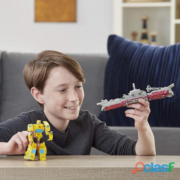 ransformers Toys Cyberverse Spark Armor Bumblebee Figura de acción – Combina con Ocean Storm Spark A 3