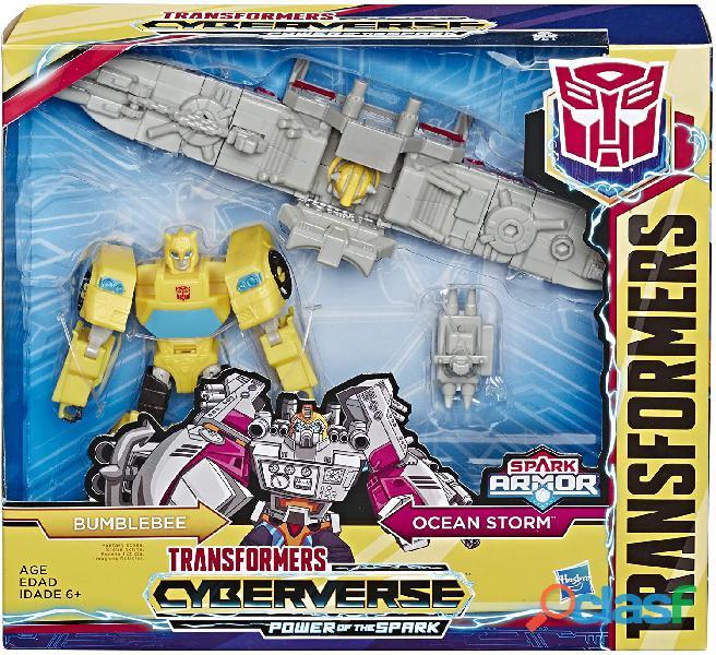 ransformers Toys Cyberverse Spark Armor Bumblebee Figura de acción – Combina con Ocean Storm Spark A 4