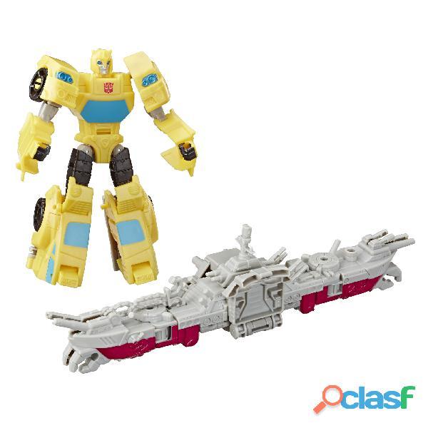ransformers Toys Cyberverse Spark Armor Bumblebee Figura de acción – Combina con Ocean Storm Spark A 5