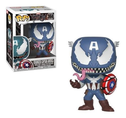 Funko pop! marvel venom/capitan américa (original)