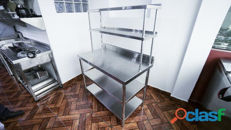 Mesa de trabajo para negocios en acero inox 3