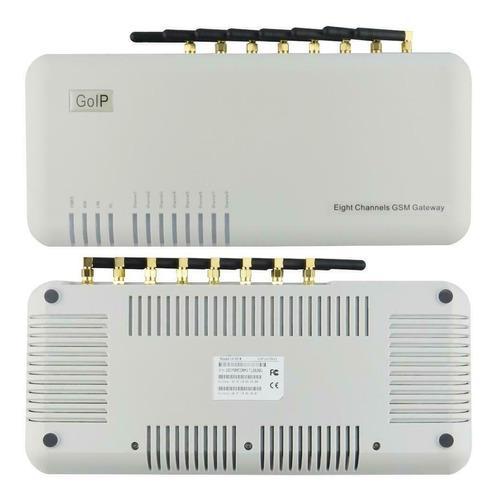 Base celular gsm sip central telefonica ip asterisk 8x chip