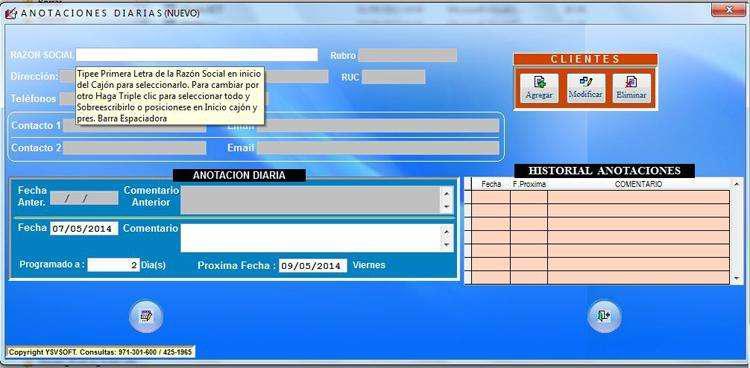 Software agenda informática empresarial personal