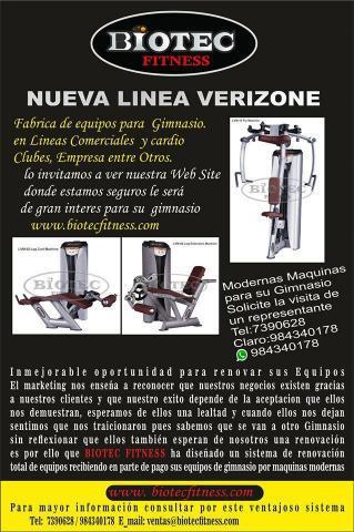 Maquinas para gimnasio biotec fitness en huacho