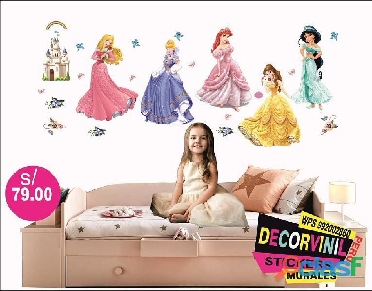 vinilos princesas disney  Decoración de habitaciones niñas 12