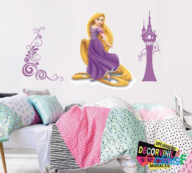 vinilos princesas disney  Decoración de habitaciones niñas 11