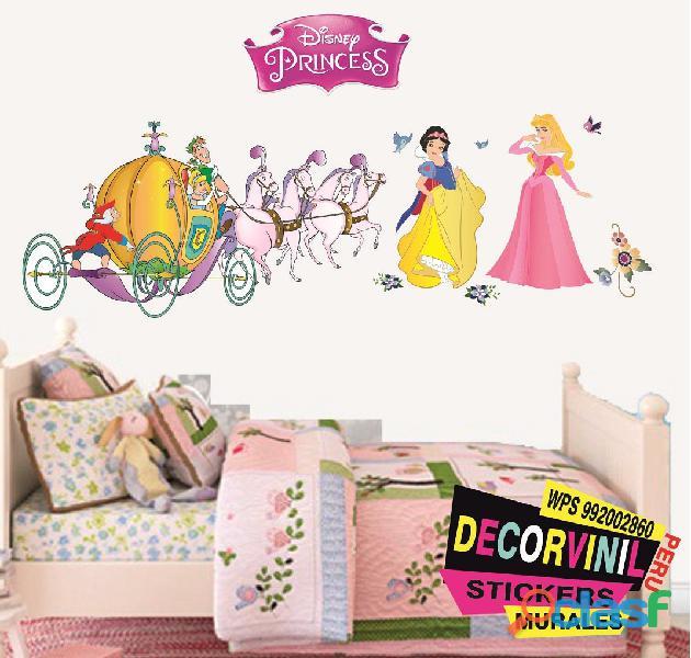 vinilos princesas disney  Decoración de habitaciones niñas 10