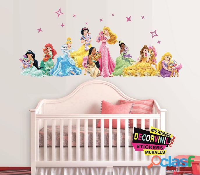 vinilos princesas disney  Decoración de habitaciones niñas 9
